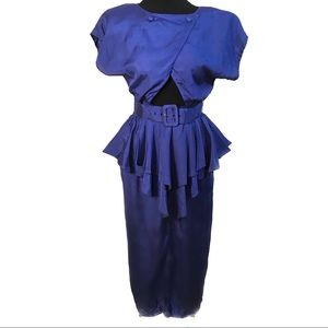 AMAZING vintage peak a boo ruffles 80's dress